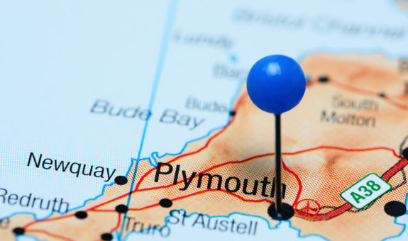 picture of a map of plymouth in devon, UK