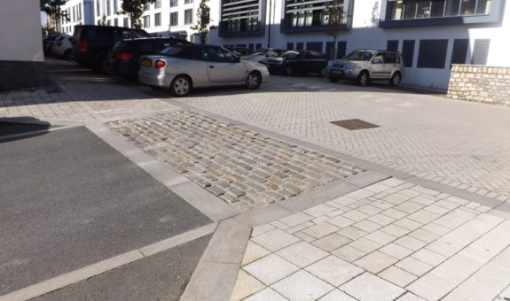 picture of a commercial driveway construction by driveways plymouth UK