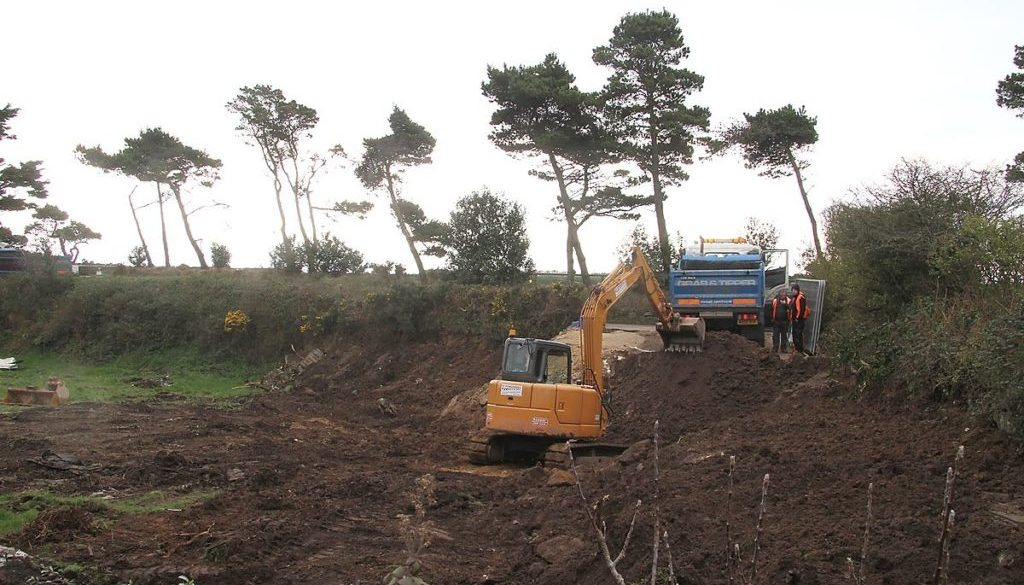 picture of a groundworks contractor in Plymouth
